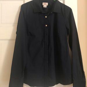 JCrew navy button up shirt